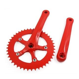 44T 185mm Dia Aluminum Alloy Mountain Bike Fixed Gear Road MTB Crankset Red