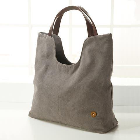 Unique Design Women Cotton Canvas Big Size Tote Bag Handbag