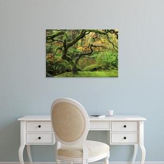 Easy Art Prints Michel Hersen's 'Portland Japanese Garden In Early Autumn' Premium Canvas Art