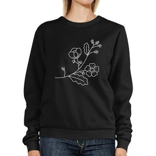 Flower Unisex Sweatshirts Flower Printed Pullover Fleece For Her