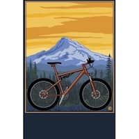 Mountain Bike Scene - LP Artwork (100% Cotton Towel Absorbent)