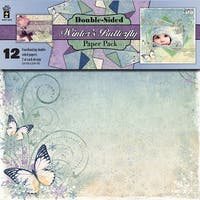 "Hot Off The Press Double-Sided Paper Pack 12""X12"" 12/Pkg-Winter's Butterfly"