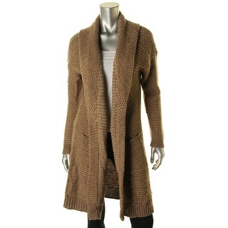 Lauren Ralph Lauren Womens Wool Blend Open Front Cardigan Sweater