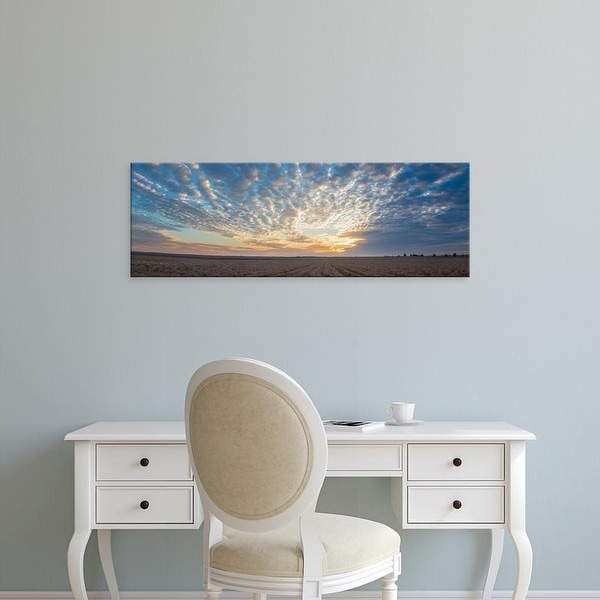 Easy Art Prints Panoramic Image 'Clouds at sunrise, Prairie Ridge Natural Area, Marion County, Illinois' Canvas Art
