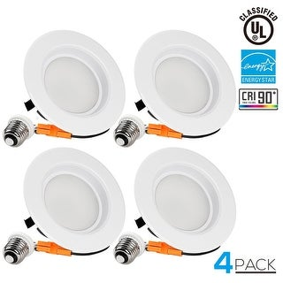TORCHSTAR 13W 4-inch Dimmable Recessed LED Downlight, High CRI, ENERGY STAR, 2700K Soft White, 800lm, 5 YEAR WARRANTY, Pack of 4