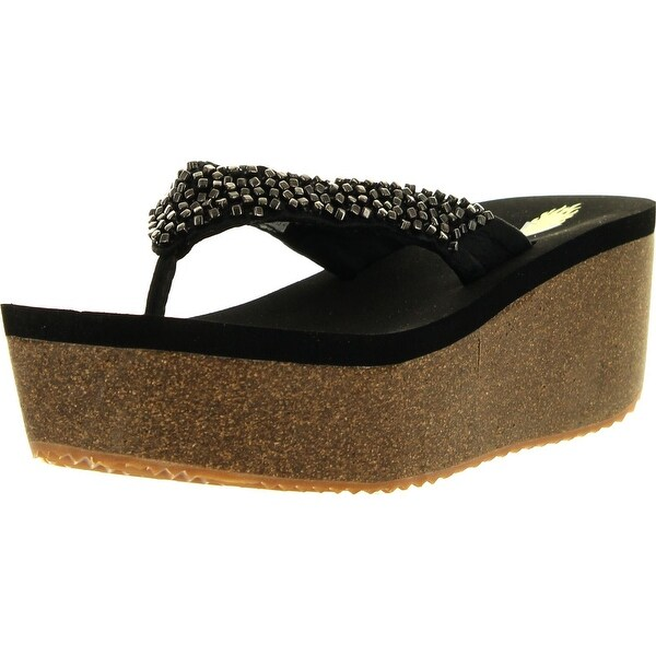 Volatile Womens Hardware Wedge Sandals - Brown
