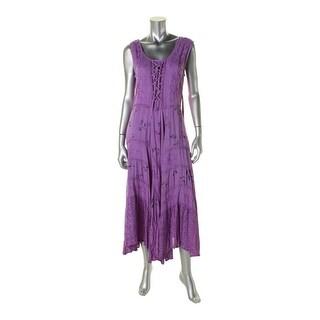 Sakkas Womens Fairy Maiden Casual Dress Corset Style Sleeveless - S/M