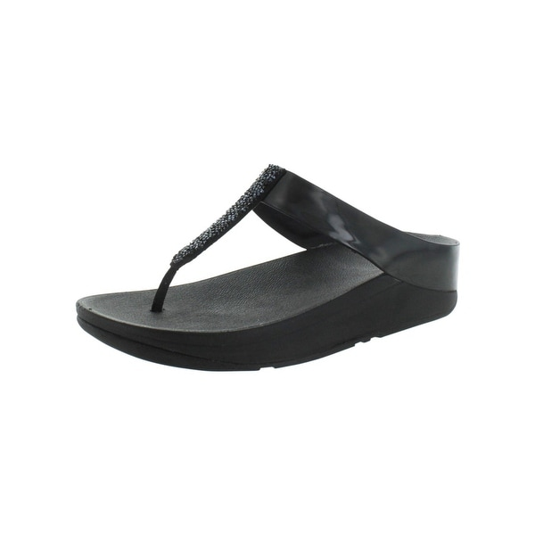 ee029dce7311ef Shop Fitflop Womens Fino Thong Sandals Man Made Slip On - On Sale ...