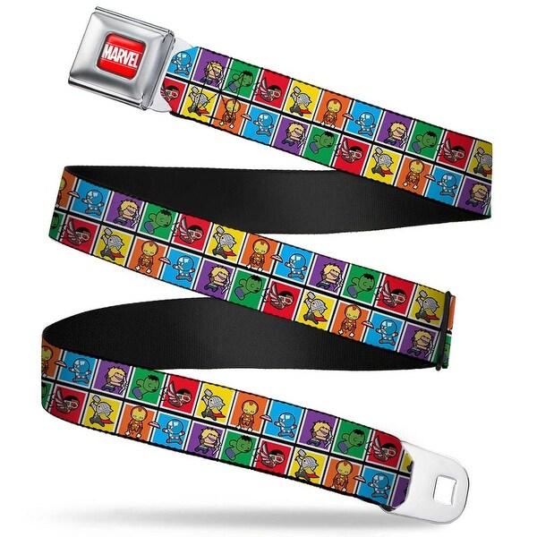 Marvel Universe Marvel Full Color Red White 6 Kawaii Avenger Action Pose Seatbelt Belt