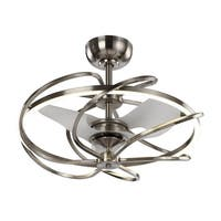 Reversible 3-Blades Satin Nickel LED Ceiling Fan with Remote - satin nickel