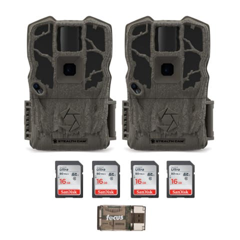 Stealth Cam G34 Max Pro 26MP Trail Camera 2-Pack w/ Memory Card Bundle