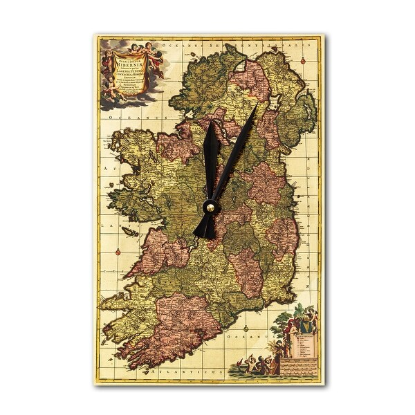 Ireland - (1750) - Panoramic Map (Acrylic Wall Clock) - acrylic wall clock
