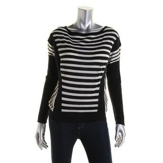 Catherine Malandrino Womens Wool Striped Pullover Sweater - S