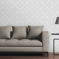 "Circle Art Group Removable Wallpaper Tile - Greyscale Mandalas - Multi-color - 24"" x 48"""