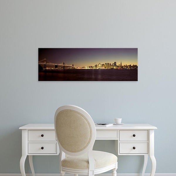 Easy Art Prints Panoramic Images's 'City skyline, Bay Bridge, San Francisco Bay, San Francisco, California' Canvas Art