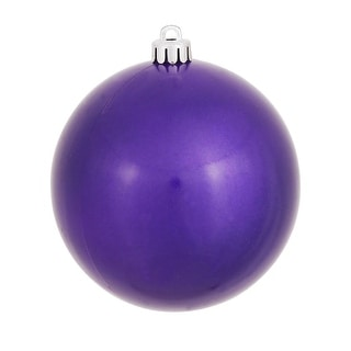 "5ct Glamorous Purple Pearl Shatterproof Christmas Ball Ornament 4"" (100mm)"