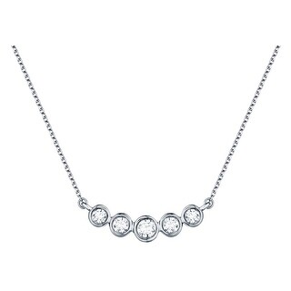 Prism Jewel 0.16Ct G-H/I1 Natural Diamond 5-Stone Bar Necklace with Chain