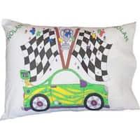 "Race Car - Stamped Perle Edge Pillowcase 30""X20"""