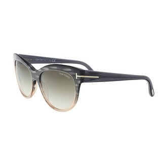 Tom Ford FT0430/S 20P LILY CHARCOAL/LIGHT CORAL Cateye Sunglasses - Grey - 56-16-140