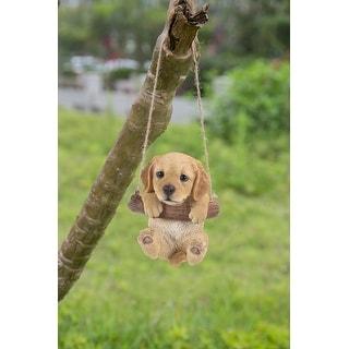 Hanging Golden Retriever Puppy Statue