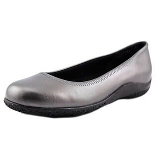 Walking Cradles Dee Women  Round Toe Leather Gray Flats
