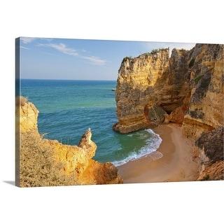 """Dona Ana Beach Lagos, Algarve, Portugal."" Canvas Wall Art"
