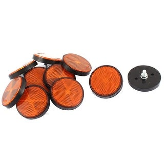 10 Pcs Yellow Round Circular Trailer Reflectors 56mm For Motorcycle
