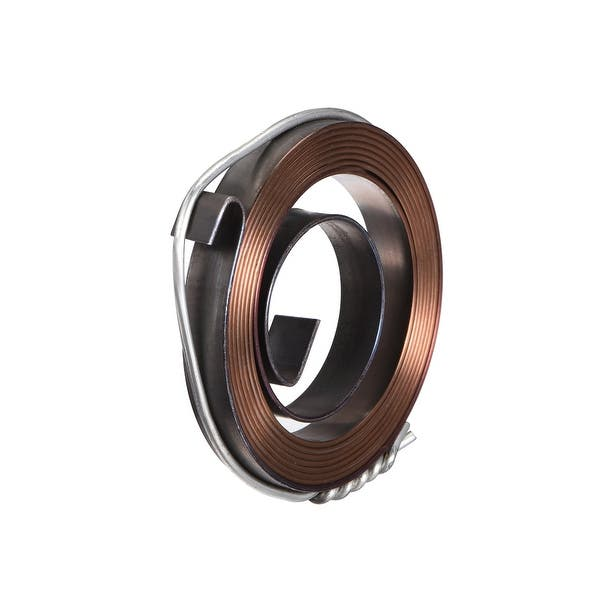 sourcing map Drill Press Spring Drill Press Quill Feed Return Coil Spring Assembly Spring Steel Chemical Blackening Finish 1540mm Expand Long 49x12x0.7mm 2 Pcs