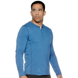 Jaco The Henley Long Sleeve Shirt - Blue