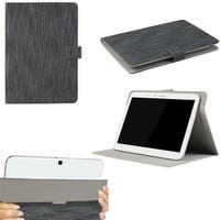"JAVOedge Classic Stripe Universal 9""-10"" Tablet Case for iPad Air, Samsung Note, Tab 3, Nook HD+ 9, Nexus 10 (Black)"