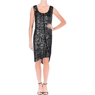 DKNY Womens Cocktail Dress Silk Sequined - L