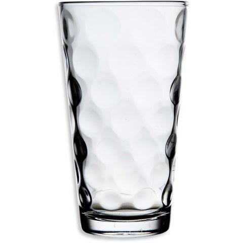 Palais Glassware Cercle Collection Clear Glass Set with Circle Design Set of 10 17 Oz Highballs, Clear