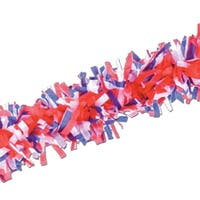 Club Pack of 24 Red, White and Blue Festive Tissue Festooning Decorations 25' - RED