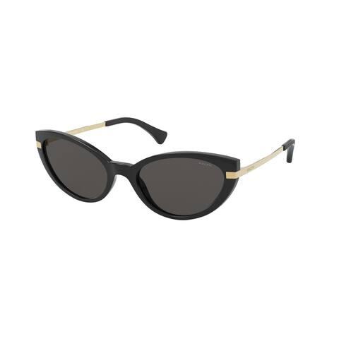 Ralph RA5266 500187 53 Shiny Black Woman Cat Eye Sunglasses
