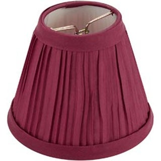 "Burgundy - Pleated Cloth Covered Lampshade 2.5""X4""X5"""