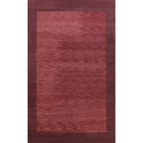 """Contemporary Bordered Oriental Living Room Area Rug Wool Hand-tufted - 9'0"""" x 12'0"""""""