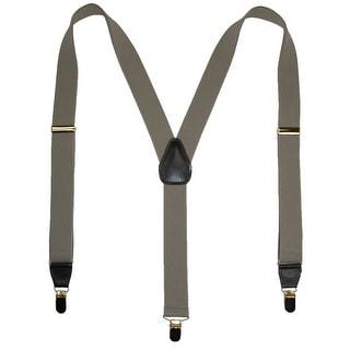 Geoffrey Beene Men's Clip-End Solid Suspenders - Khaki - One Size