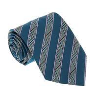 Missoni U5128 Green Awning 100% Silk Tie - 60-3