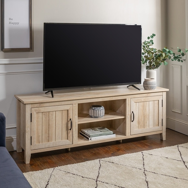 The Gray Barn Wind Gap 70-inch Beadboard Door TV Console. Opens flyout.