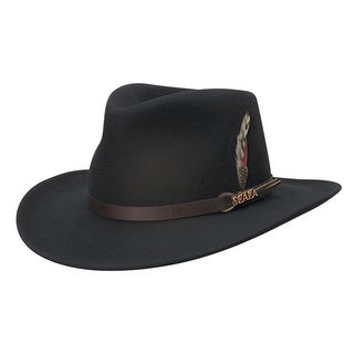 Scala Men's Wool Felt Water Repellent Crushable Fedora Hat