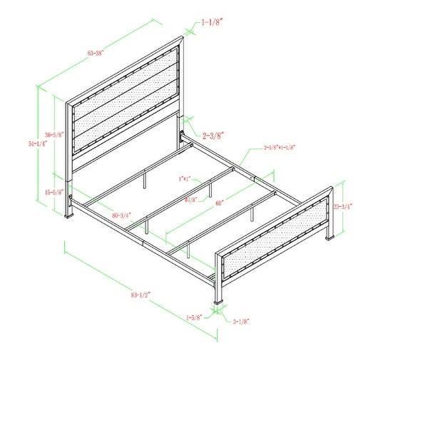 Carbon Loft Santos Queen-size Rustic Metal Panel Bedframe