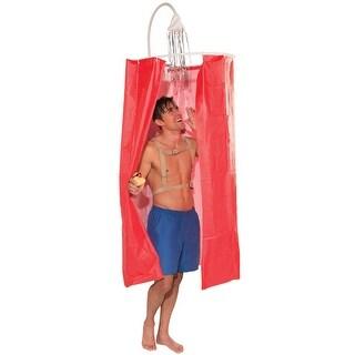 Forum Novelties Shower Curtain Adult Costume - Red - Standard