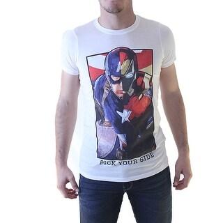Marvel Captain America: Civil War Men's White T-shirt