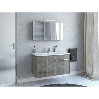 "Link to 36"" Thalia Grey Wood Floating Vanity with Integrated Porcelain Sink Similar Items in Bathroom Vanities"