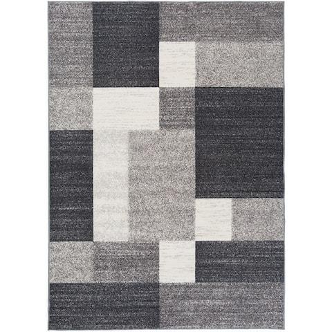 Modern Boxes Design Non-slip (Non-skid) Area Rug
