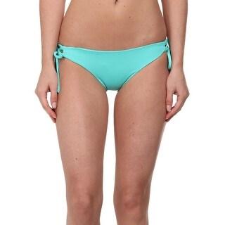L Space NEW Blue Women's Size XS Bikini Bottom Side-Tied Swimwear