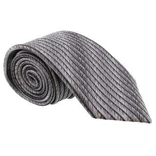 Missoni Feathered Stripe Grey Woven 100% Silk Tie
