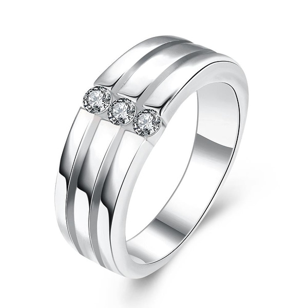 White Gold Trio-Wedding Bands Rings