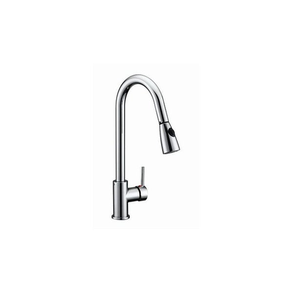 Design House 547869 Pull Down Spray Gooseneck Kitchen Faucet   Polished  Chrome