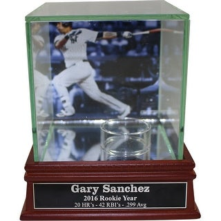 Gary Sanchez Background Glass Single Baseball w/ Nameplate